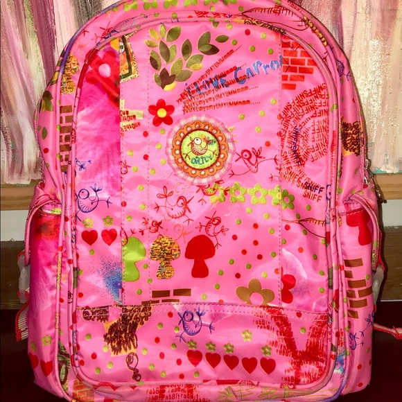 15e6575d090 Oilily Other | Kids Hot Pink I Love Carrots Backpack | Poshmark